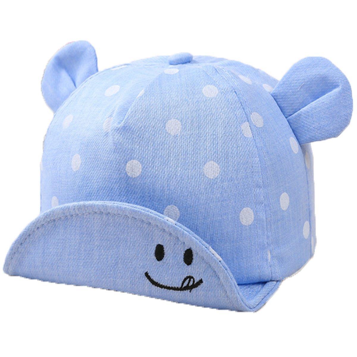 bb70aada14a Annvivi Dot Baby Summer Caps Girl Boys Sun Hat with Ear (Blue)  Amazon.ca   Clothing   Accessories