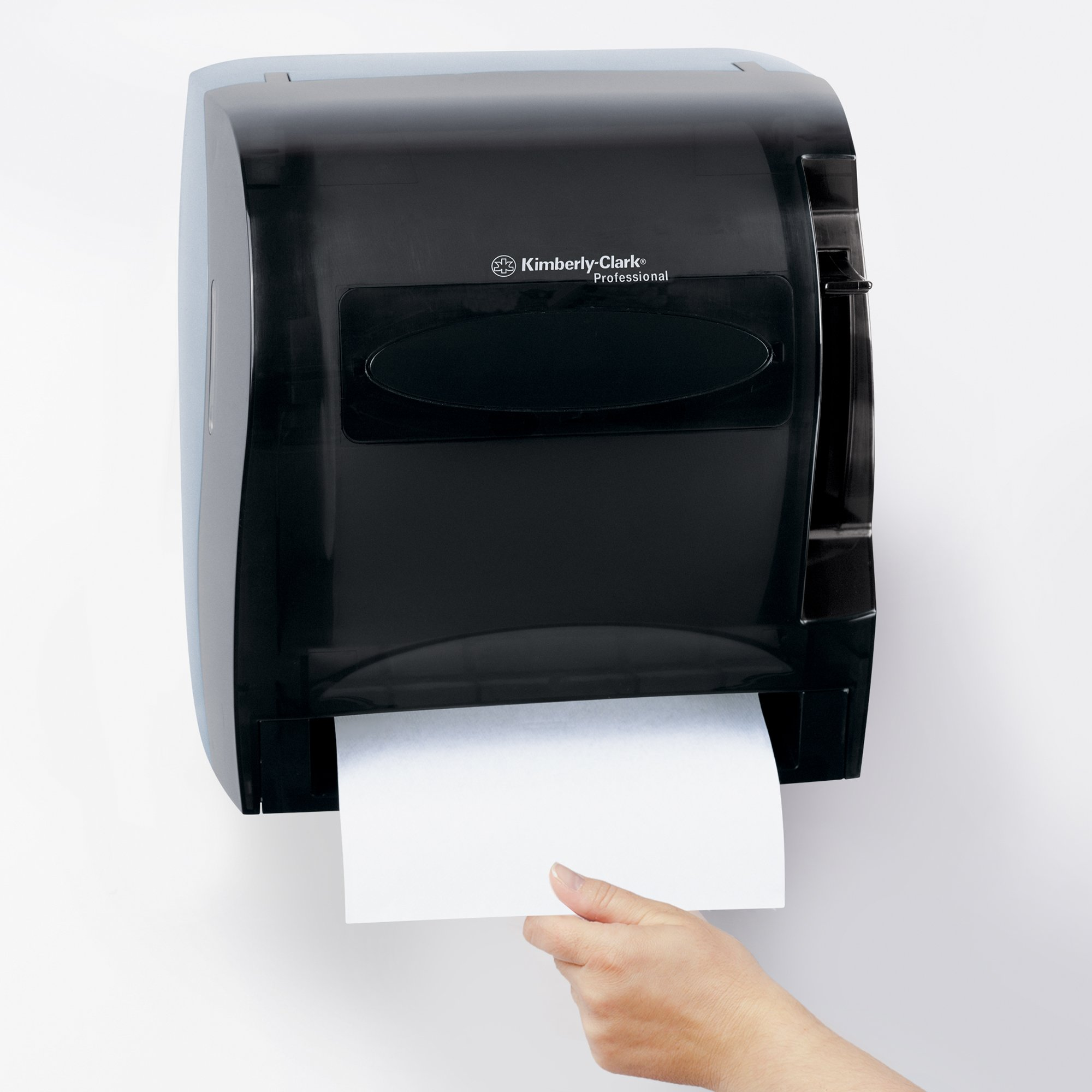 Kimberly Clark Levermatic Roll Paper Towels Dispenser (09765), Manual, Smoke (Black) by Kimberly-Clark Professional (Image #6)