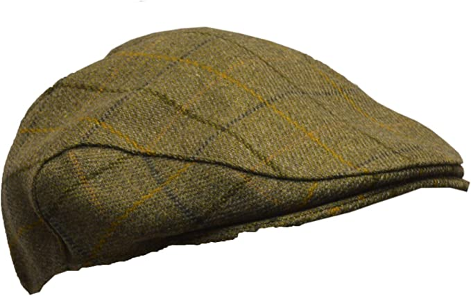 Walker /& Hawkes Chasse//Campagne Marron Tweed Casquette Plate Derby Unisexe