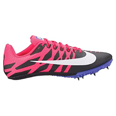 Nike Zoom Rival S Sprint Track Spikes Shoes Womens Size 5 (Black, Solar  Red, White)