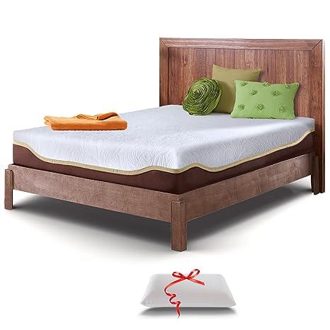 official photos 3e374 13e5c Live & Sleep King Size Mattress, Gel Memory Foam - 10 Inch Mattress - Firm  Mattress - Cool Bed in a Box - Balanced Support - Luxury Form Pillow - ...