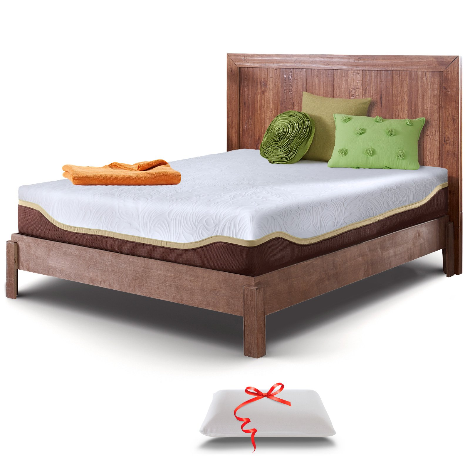 Live and Sleep Resort Elite Full/Double Size, 10-Inch Firm Cooling Gel Memory Foam Mattress and Pillow, CertiPUR Certified and 20-Year Warranty
