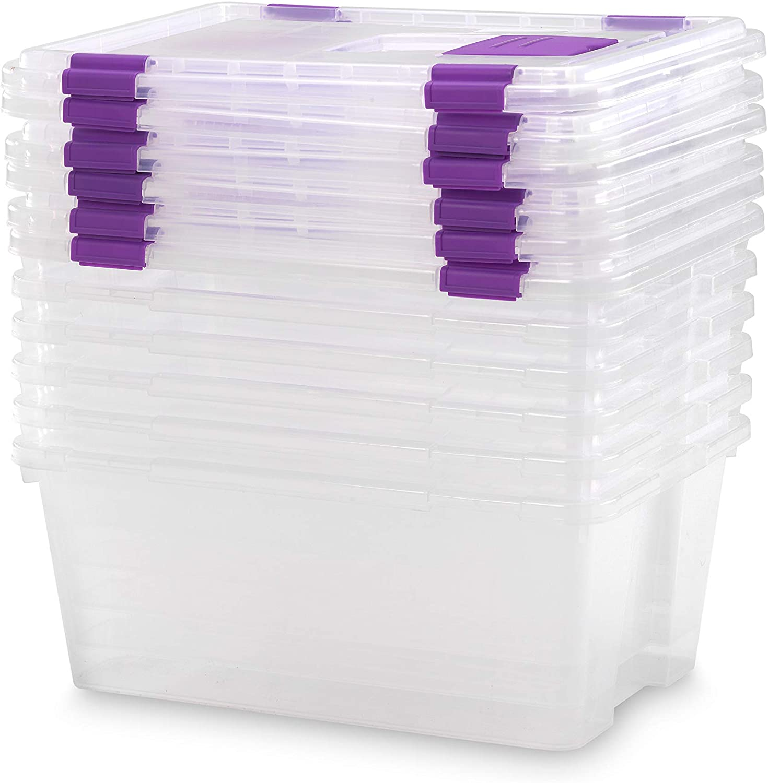 TODO HOGAR Caja Almacenaje plástico Transparente Natural - 470X320X195-20 litros (6)
