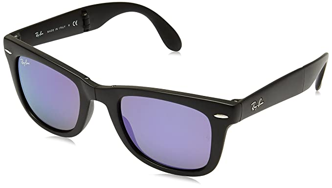 black ray ban wayfarer black lens  Amazon.com: Ray-Ban FOLDING WAYFARER - MATTE BLACK Frame GREY ...