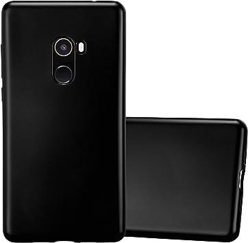 Cadorabo Funda para Xiaomi Mi Mix 2 en Metallic Negro – Cubierta ...
