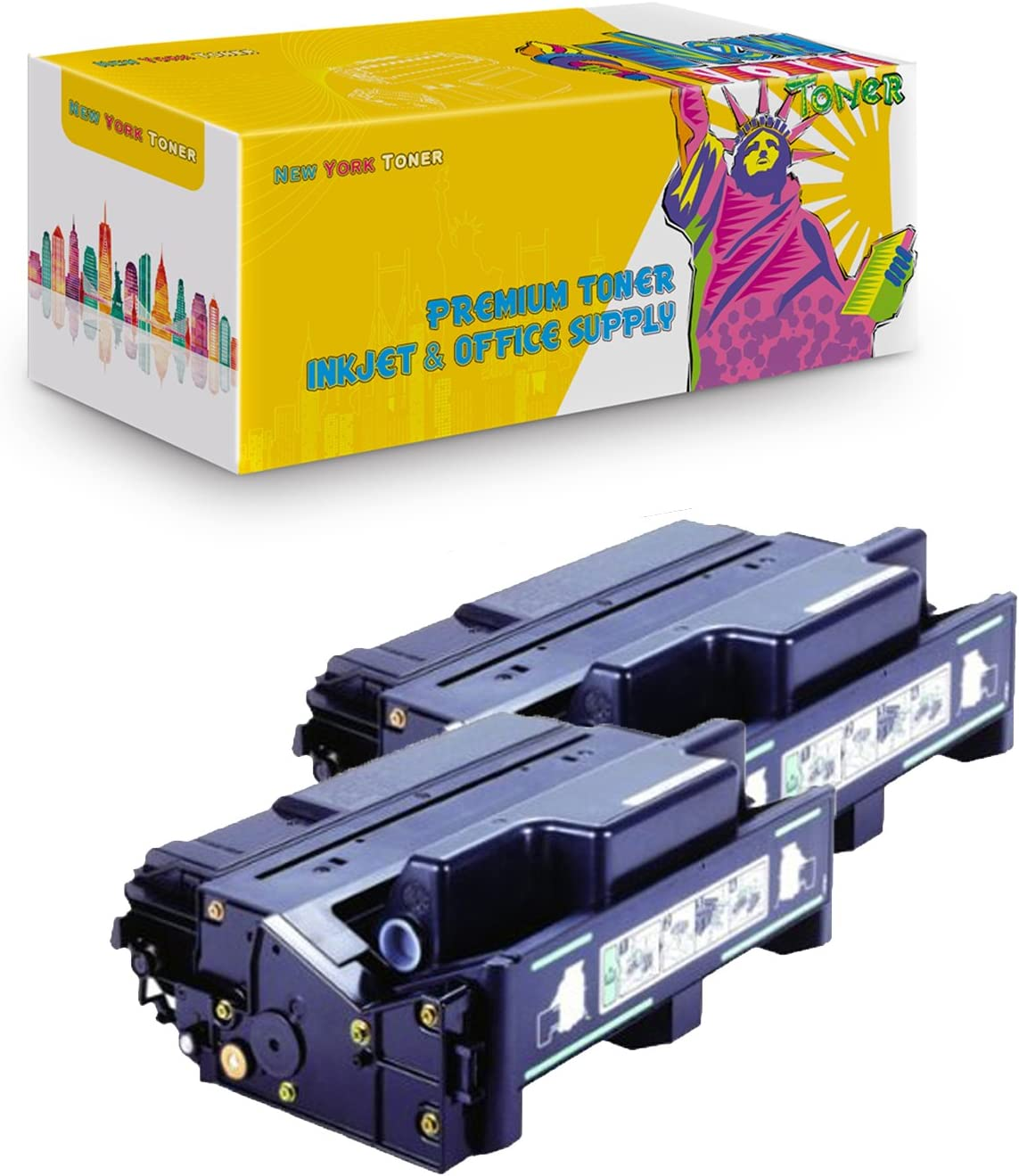 NYT Compatible High Yield Toner Cartridge Replacement for 406628 for Ricoh Aficio SP6330N Black, 2-Pack