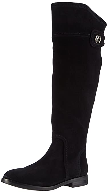 54ae4b7de Tommy Hilfiger Women s Berry 5B Cold Lined Classic Boots Long Length Black  Size  5