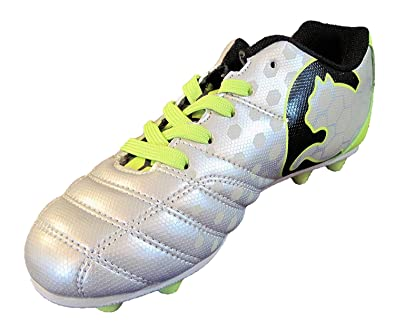 ace26f949939 Amazon.com | PUMA ProCat Equalizer Silver Soccer Cleats | Soccer