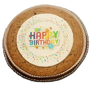 Image Unavailable Not Available For Color Happy Birthday Cookie Cake With Confetti Design