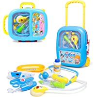 Wish key Doctor Play Set with Trolley Suitcase with Light and Sound Effects (Blue)