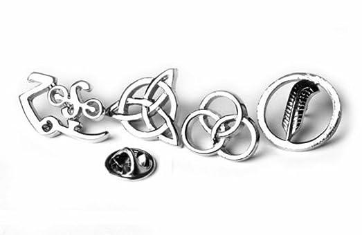 Amazon Led Zeppelin Runes 4 Symbols Badges With Locking Clips