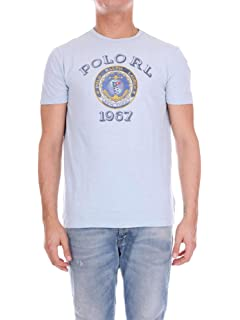 070384c41303f2 Ralph Lauren Polo piqué Bleu Marine Vieilli Logo Bleu col Mao pour ...