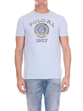 1967 Rond Shirt Ciel Lauren Ralph Pour Bleu T Polo HommeAmazon Col uclKJT3F1