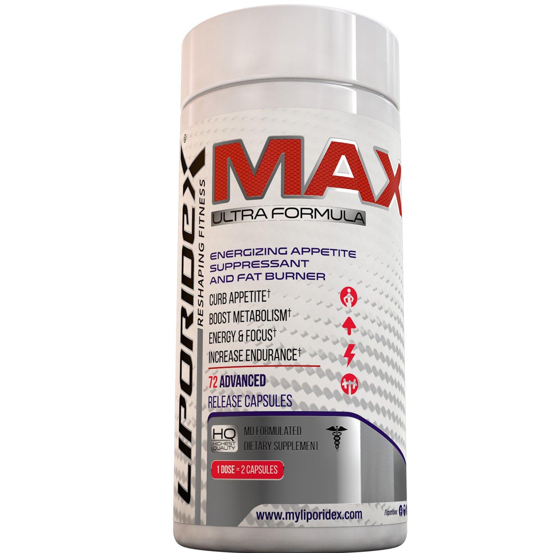 Liporidex MAX2 Metabolic Booster Weight Loss Diet Pills - 72Ct