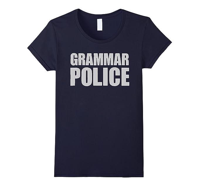 31415cfba9bd Women s Grammar Police T-Shirt Large Navy  Amazon.ca  Clothing ...