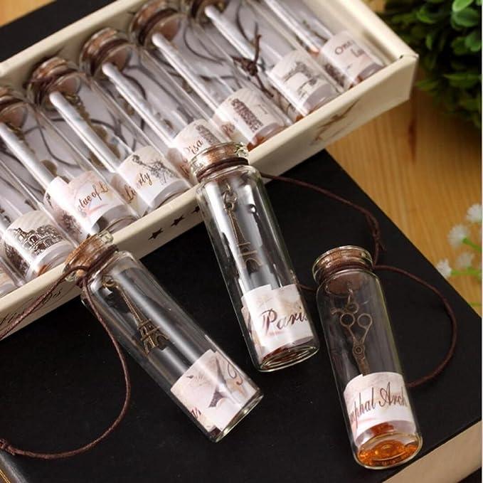 YFZYT - Botellas de deseos vintage con corcho, pequeña botella de ...