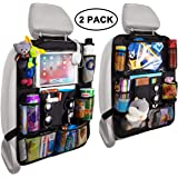 Reserwa Backseat Car Organizer Kick Mats back seat storage bag with Clear Screen Tablet Holder and 9 Storage Pockets…