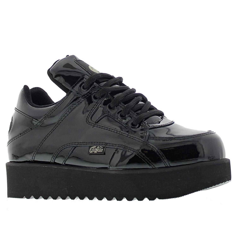 Buffalo Womens 1330-4 Patent Leather Shoes 38 EU|Black Patent