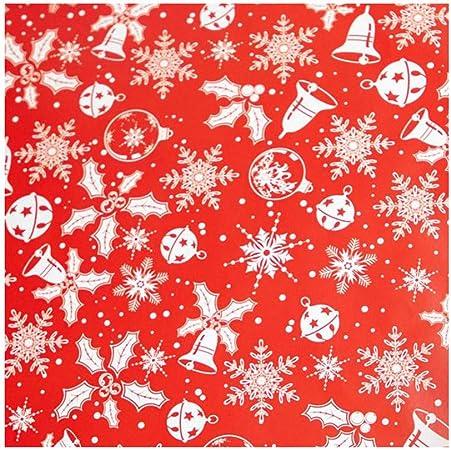 FiedFikt - Carta regalo natalizia con motivo a fiocco di neve, 3