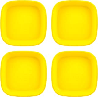 "product image for Re-Play Made in USA 4pk Heavy Duty 7.375"" Yellow Deep Walled Plates 