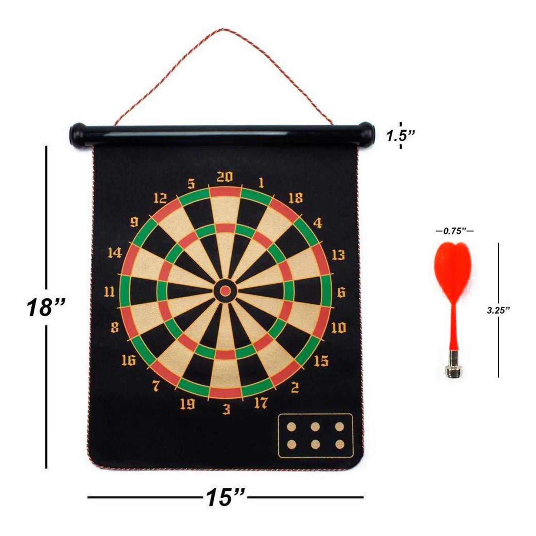 RLQ Aim Target 6 Pcs Safety Magnetic Game, Reversible Magnetic Target Board Magnetic Target Goal Game Set for Kids Adult,5042cm by RLQ
