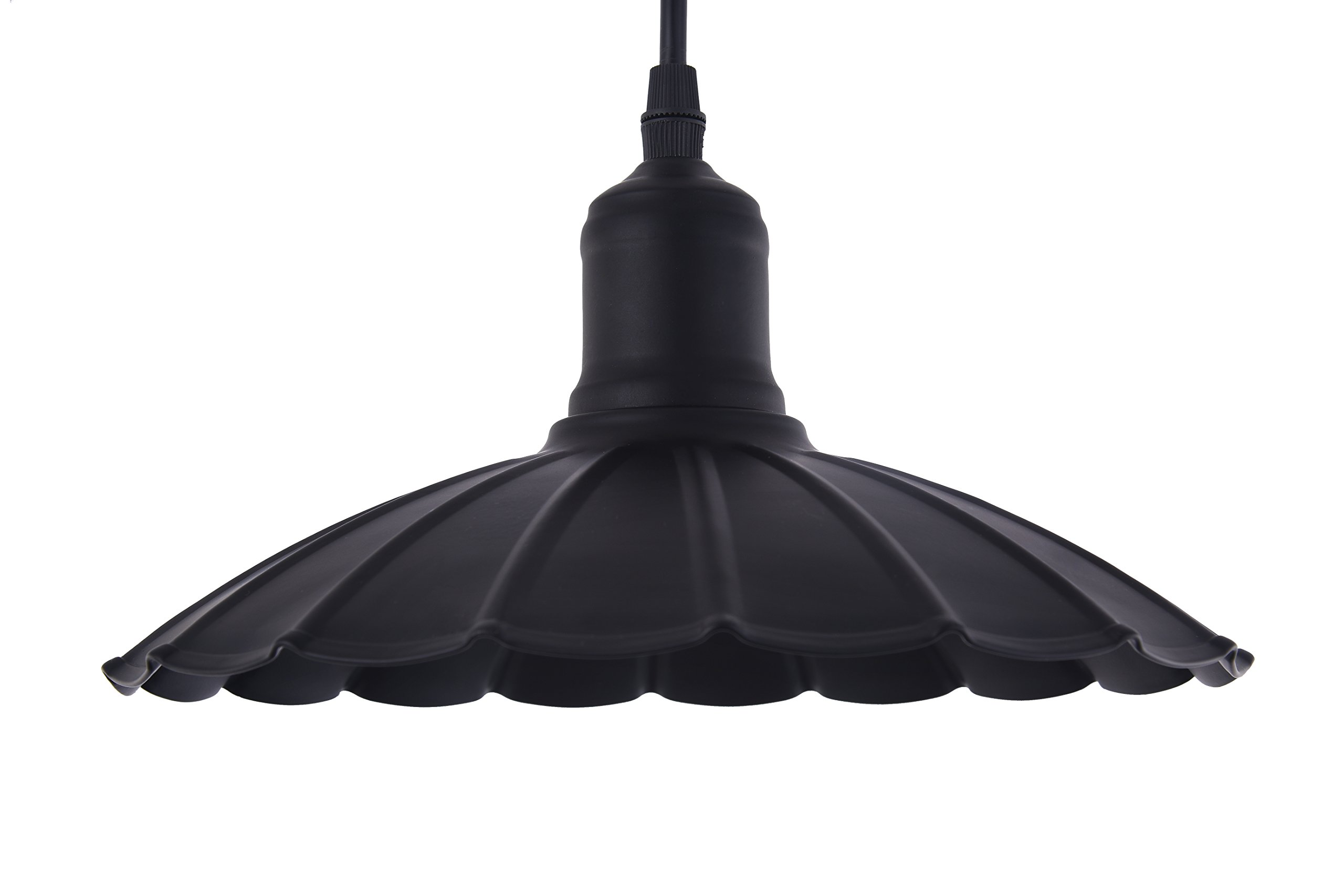 Metal Pendant Lights,MGLight Industrial Black Modern Vintage Adjustable for Bar, Restaurant, Shopping Mall Black