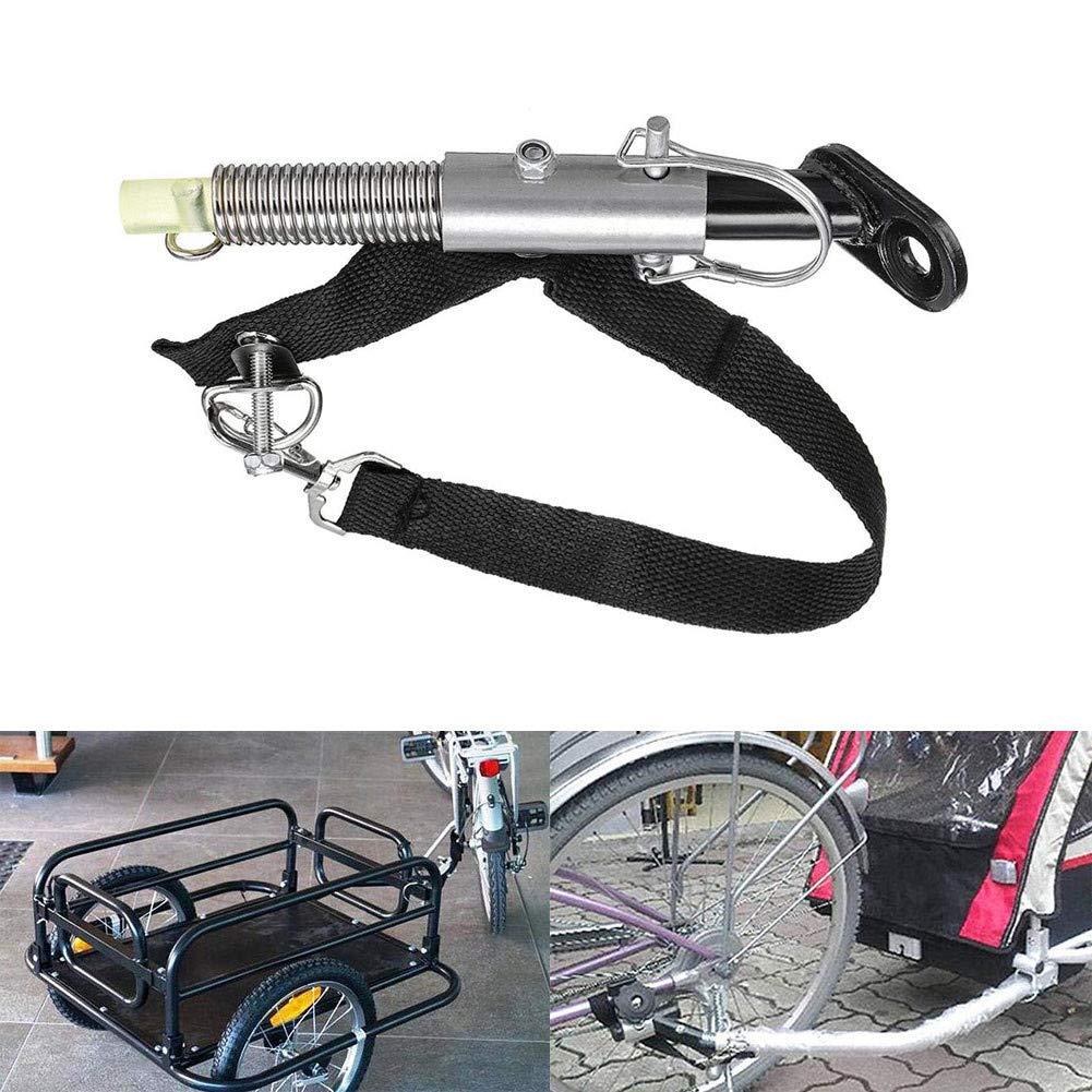 Smartcoco Universal Bike Trailer Steel Linker Bicycle Trailer Classic Hitch Baby Pet Coupler Hitch Linker Bike Trailer Hitch Adapter Attachment