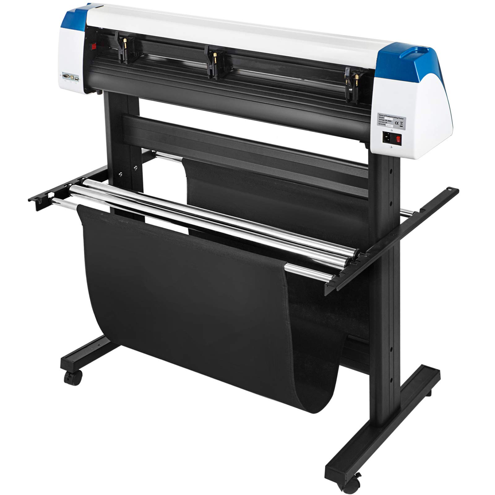 VEVOR Vinyl Cutter 28 inch Vinyl Cutter Machine Semi-Automatic DIY Vinyl Printer Cutter Machine Manual Positioning Sign Cutting with Floor Stand Signmaster Software by VEVOR (Image #3)