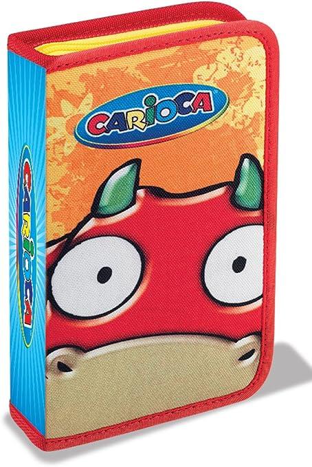 Carioca - Estuche para lápices con 1 cremallera, capacidad para 14 lápices, diseño de vaca: Amazon.es: Oficina y papelería