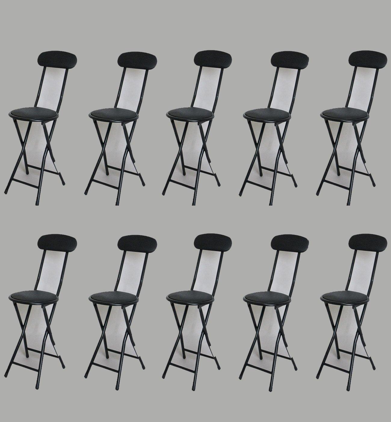 10脚セット 折りたたみチェアー パイプ椅子 ブラック hd-2000 bk-10 B00R92Z6YM