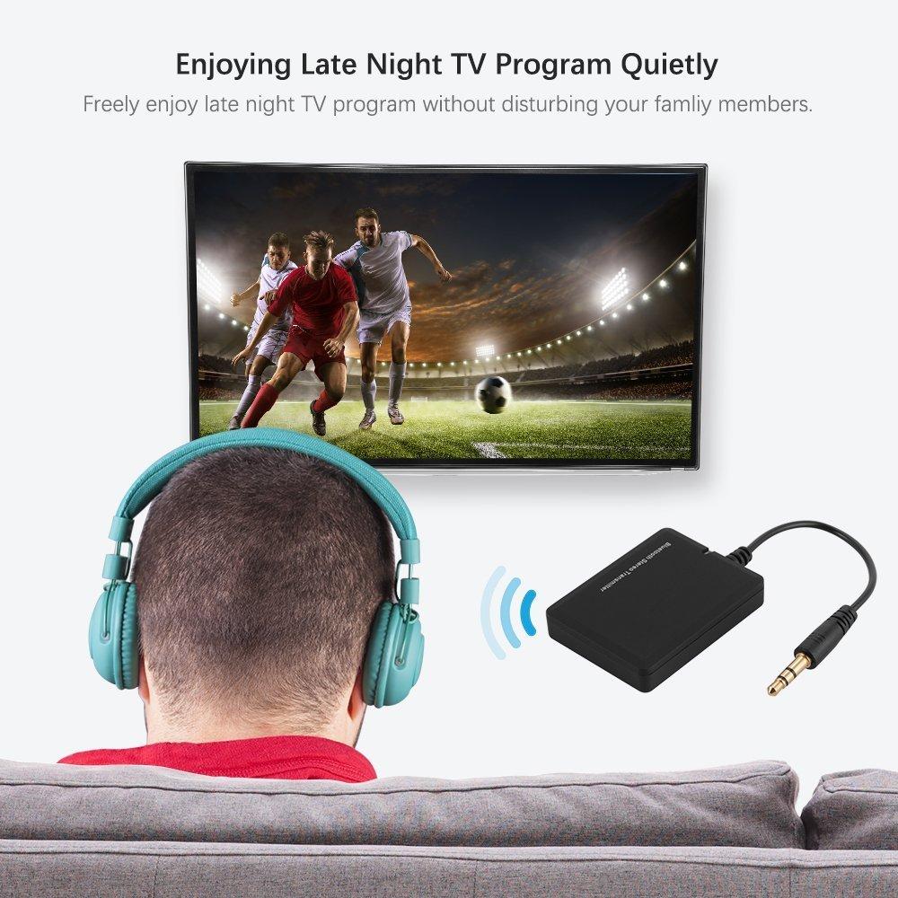 Adaptador y transmisor estéreo Bluetooth inalámbrico portátil para TV, computadora de escritorio, computadora portátil,reproductor de MP3,dispositivos de ...