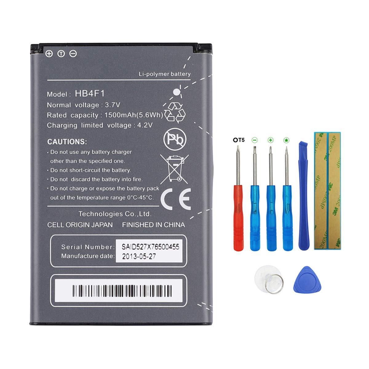 Trekstor WLAN E6939 U8230 T-Mobile Pulse E5331 U8000 Bater/ía para router port/átil Hotspot HB4F1 compatible con Huawei U8220 U9120 E5832 Swark XSBoX GO con herramientas E5830 E583X