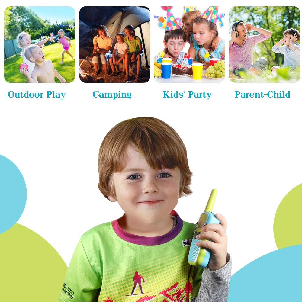 OMWay Toys for 4-5 Year Old Boys, Walkie Talkies for Boys Age 5-10,Outdoor Toys for Kids Toddlers,Kids Camping Gear,3-12 Year Old Boy Gifts,2 Way Radio,2 Miles,Birthday Gifts Ideas. by OMWay (Image #3)