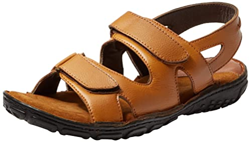 f985ea1ee Burwood Men s Leather Casual Sandals  Buy Online at Low Prices in India -  Amazon.in