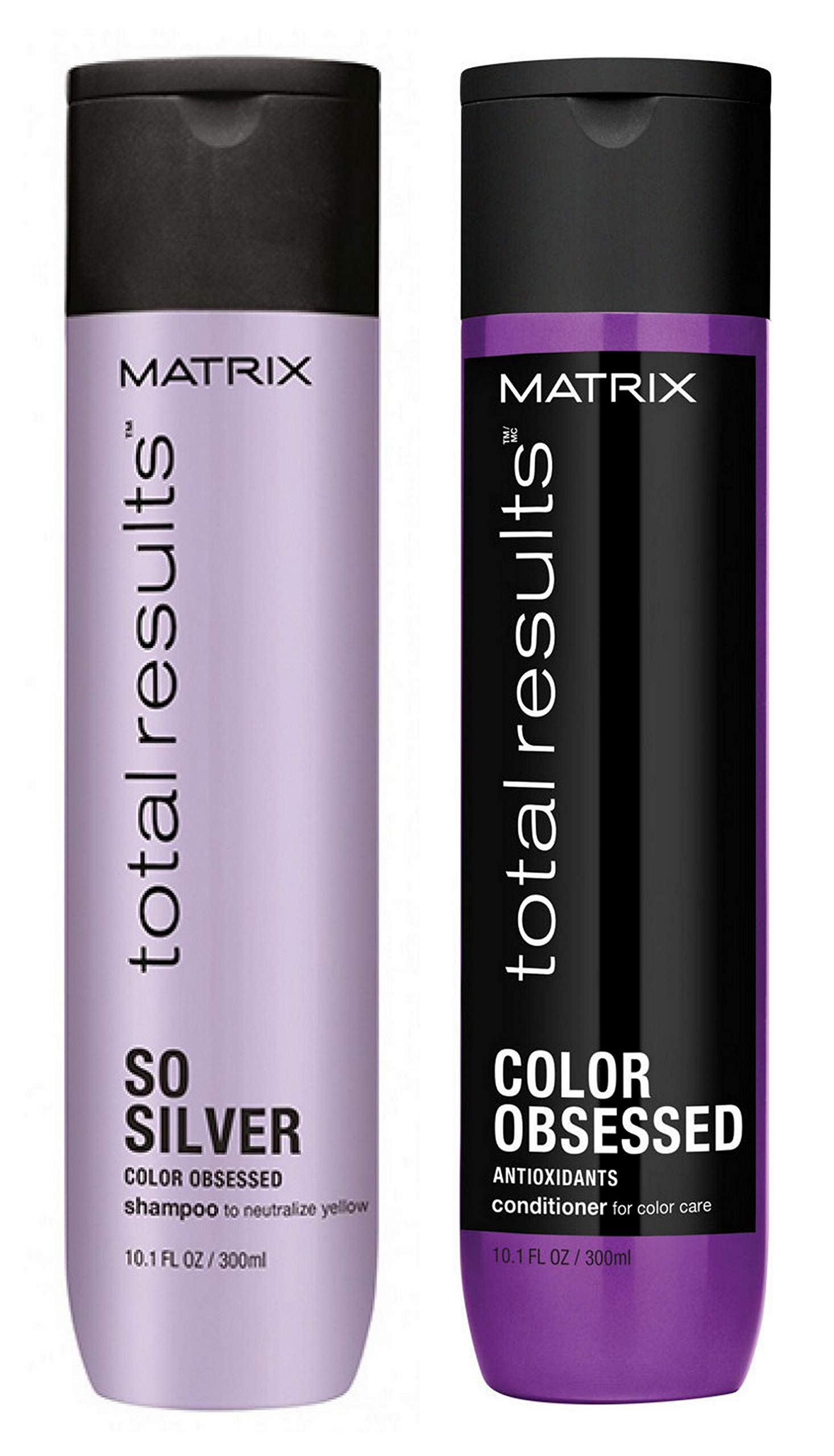 Matrix Total Results So Silver Shampoo and Color Obsessed Conditioner Duo 10.1 oz (Packaging may vary)
