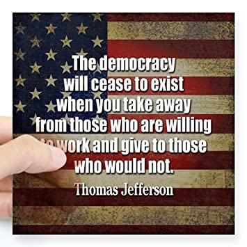 Amazon.com: CafePress – Jefferson cito a la Democracia ...