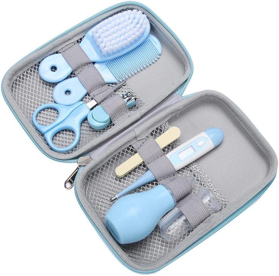 Yellow 8pcs esencial conveniente diario tijeras cortapelos tijeras cepillo de pelo cuidado de manicura kit para beb/és