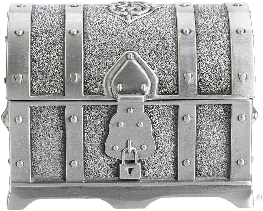 Wal front Antique Small Pirate Treasure Chest Pirate Treasure Chest Wedding Jewelry Gift Box