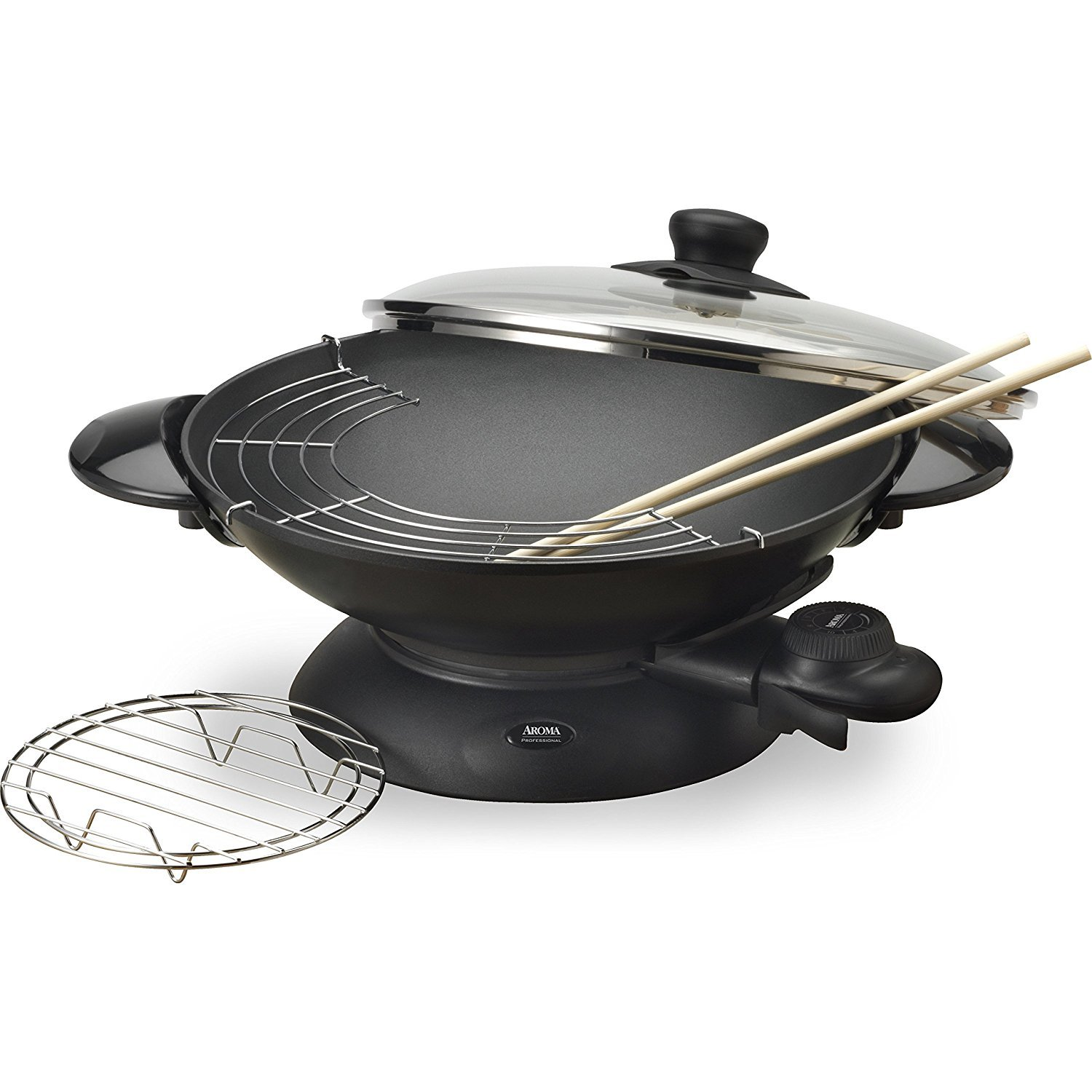 Amazon.com: Aroma Housewares AEW-306 5-Quart Electric Wok: Kitchen ...