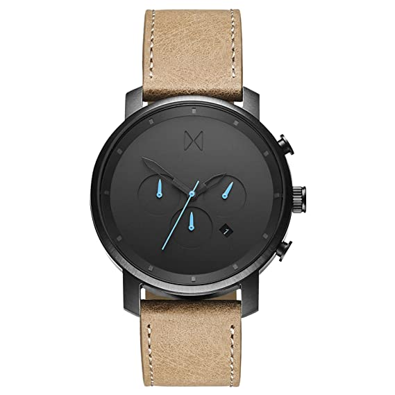 Reloj para Hombre Reloj cronógrafo MVMT Negro y Gris Oscuro Metal Arena  Gris Correa de Cuero MCCGML  Amazon.es  Relojes c2e973e1514f