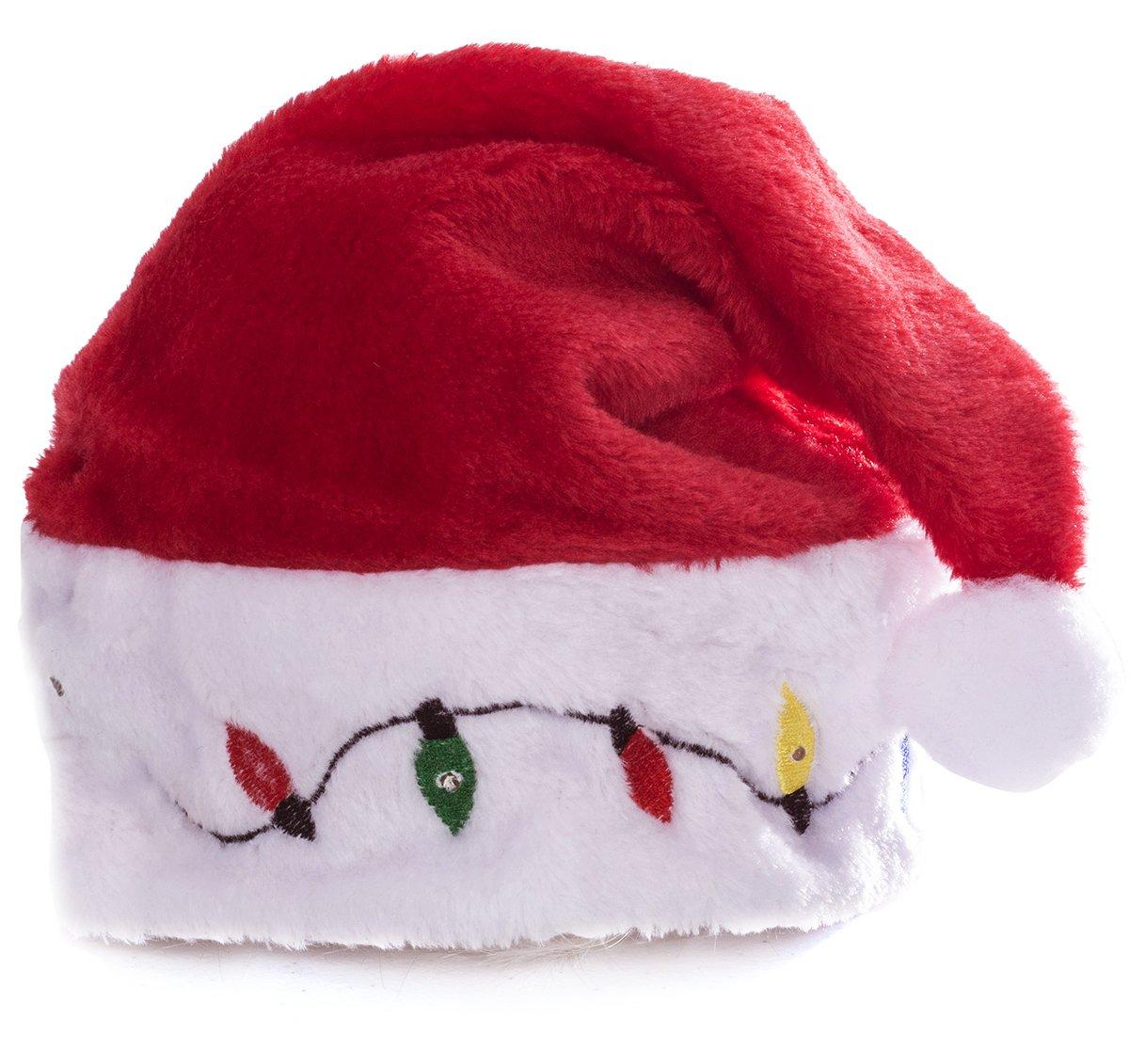 517dece423074 Funny Party Hats Santa Hats - Christmas Novelty Light Up Hats ...