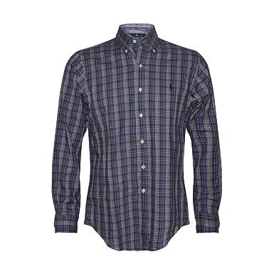 Polo Ralph Lauren Men\u0027s Cotton Twill Classic Fit Button-down Shirt (S,  Purple350