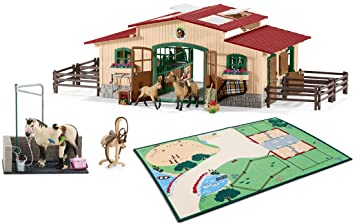 Schleich Pferdestall Mit Zubehor 42195 Spielteppich 42138