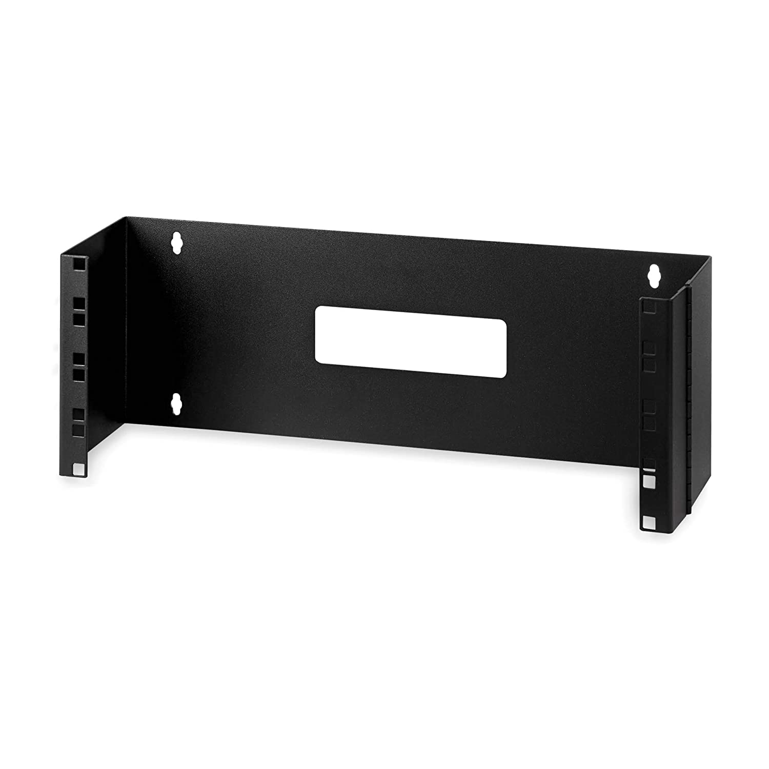 "StarTech.com 4U Hinged Wall Mount Patch Panel Bracket - 6 inch Deep - 19"" Patch Panel Swing Rack for Shallow Network Equipment- 33lbs (WALLMOUNTH4)"