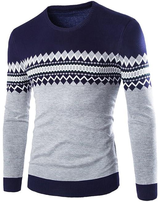 in magazzino ottima vestibilità prezzo basso Quge Maglione Uomo Elegante Norvegesi Slim Fit Design Maglieria ...