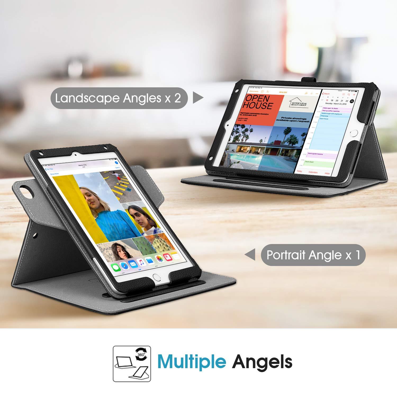 "Auto Sleep//Wake Corner Protection for 7.9/"" New iPad mini 5 // mini 4 Multi-Angle Viewing Smart Stand Cover with Pencil Holder FINTIE Case for iPad mini 5 // iPad mini 4, 360 Degree Rotating Black"