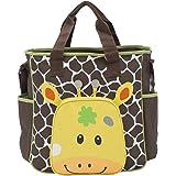 Tinny Tots Brown Giraffe Baby Diaper Bag Nappy Mummy Bag Print Maternity Handbag Changing Baby Messenger Bag (Giraffe)
