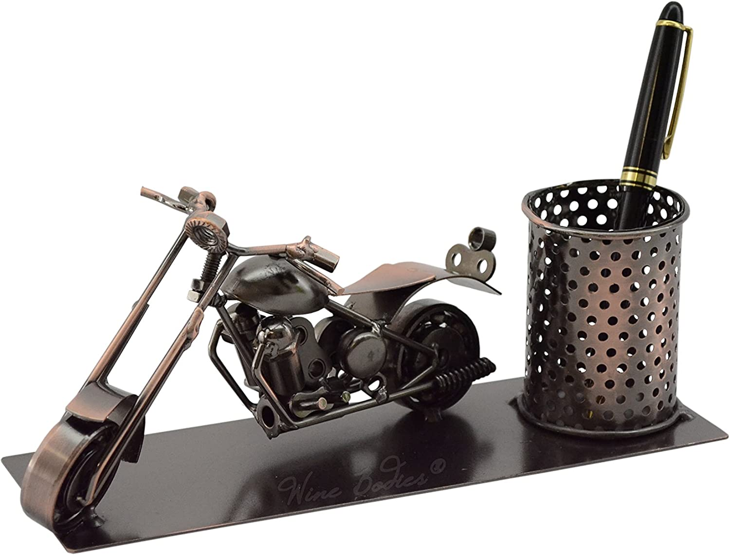 Wine Bodies Custom Chopper Motorcycle Business Pen Holder Desk Organizer