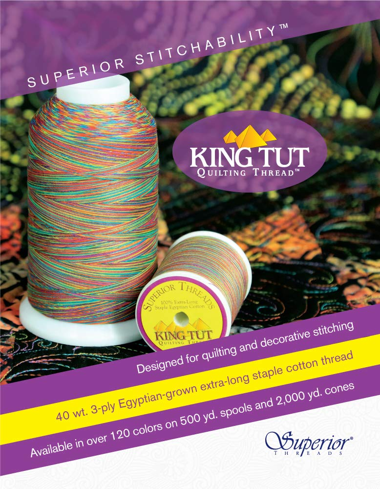 Superior Threads King Tut #40//3-Ply Quilting Thread 2000 yds Cone; 976 Olde Golde 121-02-976
