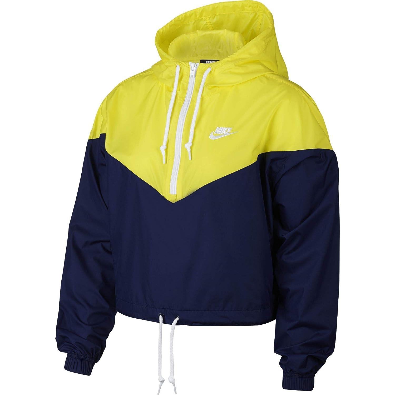 61b516ace4331 Nike Women's Half-Zip Adjustable Windbreaker, Blue Void/Opti Yellow ...